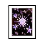 Sparkling Stars Framed Panel Print