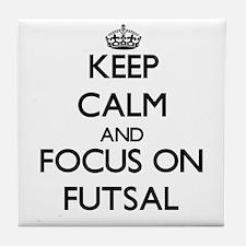 Keep calm and focus on Futsal Tile Coaster