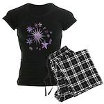 Sparkling Stars Women's Dark Pajamas