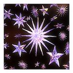 Sparkling Stars Square Car Magnet 3