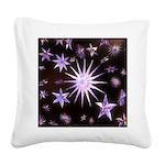 Sparkling Stars Square Canvas Pillow