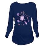 Sparkling Stars Long Sleeve Maternity T-Shirt