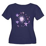 Sparkling Stars Women's Plus Size Scoop Neck Dark
