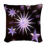 Sparkling Stars Woven Throw Pillow
