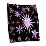Sparkling Stars Burlap Throw Pillow
