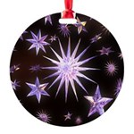 Sparkling Stars Round Ornament