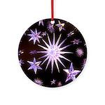 Sparkling Stars Ornament (Round)
