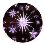 Sparkling Stars Round Car Magnet