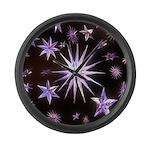 Sparkling Stars Large Wall Clock