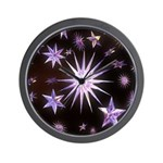Sparkling Stars Wall Clock