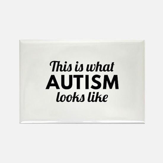 Autism Looks Like Rectangle Magnet