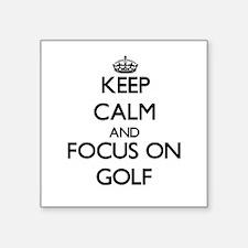 Keep calm and focus on Golf Sticker