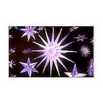 Sparkling Stars Rectangle Car Magnet