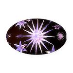 Sparkling Stars Oval Car Magnet