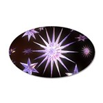 Sparkling Stars 20x12 Oval Wall Decal