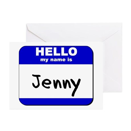 hello my name is jenny Greeting Cards (Package of