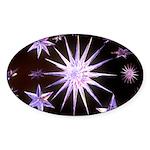 Sparkling Stars Sticker (Oval 50 pk)