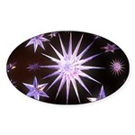 Sparkling Stars Sticker (Oval 10 pk)