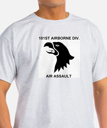 101st Airborne Division<BR>Ash Grey T-Shirt