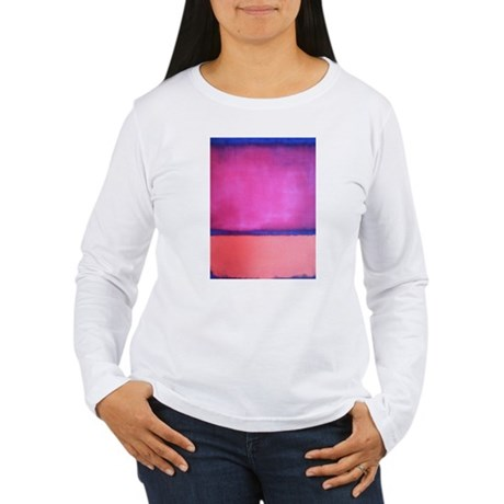ROTHKO PINK BLUE PEACH Women's Long Sleeve T-Shirt