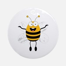 Flying Bee Ornament (Round)