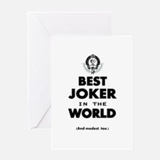 The Best in the World Best Joker Greeting Cards