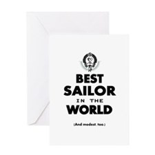 The Best in the World Best Sailor Greeting Cards
