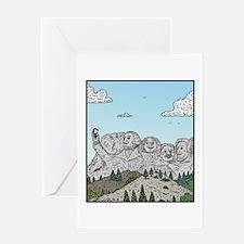 Mt Rushmore selfies Greeting Cards