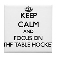 Keep calm and focus on Ithf Table Hockey Tile Coas