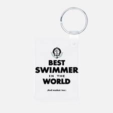 The Best in the World Best Swimmer Keychains
