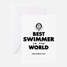 The Best in the World Best Swimmer Greeting Cards