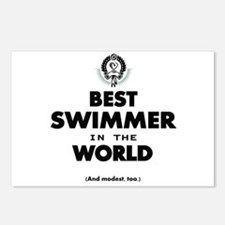 The Best in the World Best Swimmer Postcards (Pack