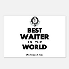 The Best in the World Best Waiter Postcards (Packa