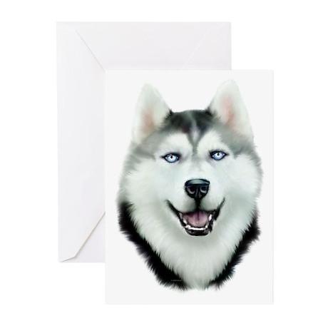 Siberian Husky Greeting Cards (Pk of 10)