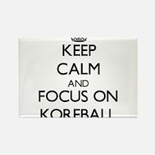 Keep calm and focus on Korfball Magnets
