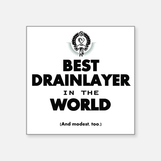 The Best in the World Best Drainlayer Sticker