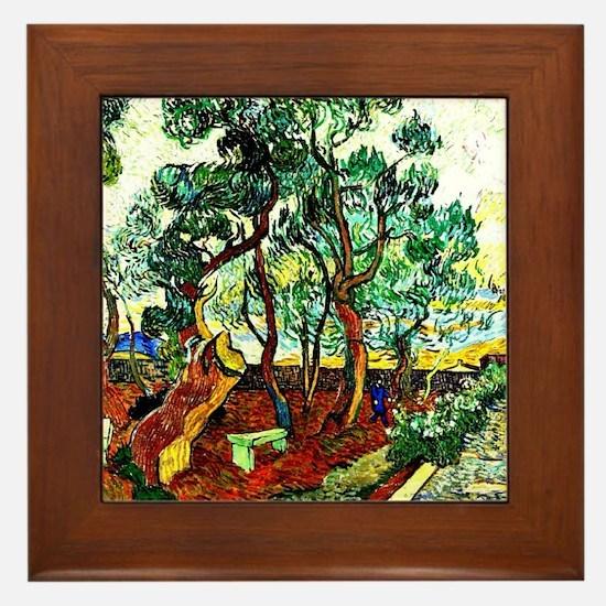 Van Gogh - The Garden of St. Paul's Ho Framed Tile
