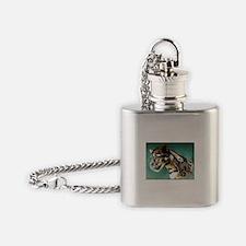 CLOUDED LEOPARD Flask Necklace