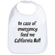 Feed me California Roll Bib
