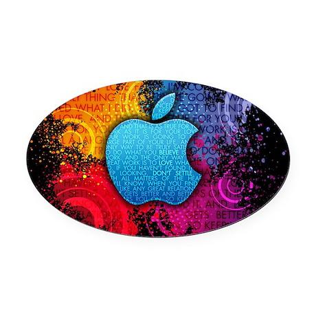 Apple Oval Car Magnet