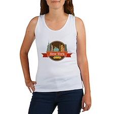 New York Big Apple Badge Tank Top
