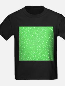 Dotty Pattern in Green. T-Shirt