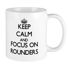 Keep calm and focus on Rounders Mugs