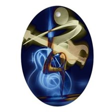 The Guitar Player abstract design Oval Ornament