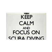 Keep calm and focus on Scuba Diving Magnets