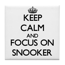Keep calm and focus on Snooker Tile Coaster