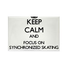 Keep calm and focus on Synchronized Skating Magnet