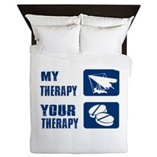 hang glide is my Therapy Queen Duvet