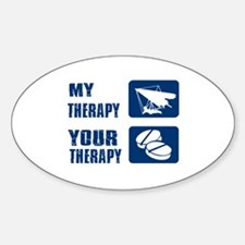 hang glide is my Therapy Decal