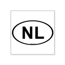 Int'l Country Code Oval Sticker: Netherlands (NL)